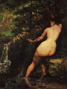 Gustave Courbet The Source oil painting reproduction