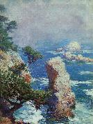 Guy Rose Mist Over Point Lobos oil