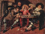 HALS, Dirck Amusing Party in the Open Air s oil painting reproduction