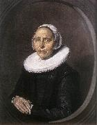 HALS, Frans Portrait of a Seated Woman Holding a Fn f oil painting reproduction