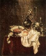 HEDA, Willem Claesz. Ham and Silverware wsfg painting