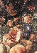 HEEM, Cornelis de Still-Life with Flowers and Fruit (detail) sg oil on canvas