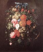 HEEM, Cornelis de Still-Life with Flowers wf oil on canvas