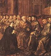 HERRERA, Francisco de, the Elder St Bonaventure Joins the Franciscan Order g oil painting
