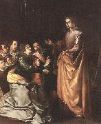 HERRERA, Francisco de, the Elder St Catherine Appearing to the Prisoners sf oil painting