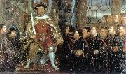 HOLBEIN, Hans the Younger Henry VIII and the Barber Surgeons sf painting