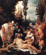 HUBER, Wolf The Lamentation of Christ sg oil on canvas