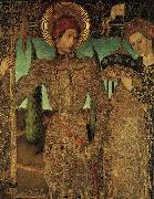 HUGUET, Jaume Triptych of Saint George (detail) af oil on canvas