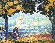 Henri Edmond Cross The Church of Santa Maria degli Angeli near Assisi oil on canvas