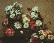 Henri Fantin-Latour Still Life with Flowers  2 oil