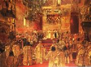 Henri Gervex The Coronation  of Nicholas II oil on canvas