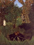 Henri Rousseau The Monkeys oil