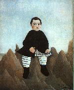 Henri Rousseau Boy on the Rocks oil