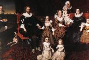 JOHNSON, Cornelius Sir Thomas Lucy and his Family sg oil on canvas