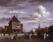 Jacob van Ruisdael The Dam Square in Amsterdam oil painting reproduction