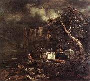 Jacob van Ruisdael Jewish Cemetery oil painting reproduction