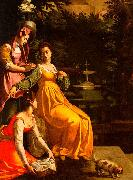 Jacopo da Empoli Susanna and the Elders oil painting reproduction