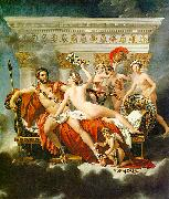 Jacques-Louis  David Mars Disarmed by Venus and the Three Graces oil on canvas
