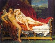 Jacques-Louis  David Cupid and Psyche1 oil on canvas