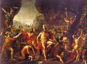 Jacques-Louis  David Leonidas at Thermopylae oil on canvas