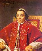 Jacques-Louis  David Portrait of Pope Pius VII_2 oil on canvas