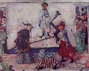 James Ensor Skeletons Fighting for the Body of a Hanged Man oil painting artist