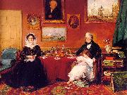 James Holland The Langford Family in their Drawing Room oil on canvas