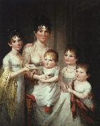 James Peale Madame Dubocq and her Children oil on canvas