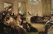 James Tissot Hush painting