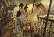 James Tissot The Gallery of HMS Calcutta oil on canvas