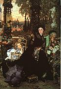 James Tissot Une Veuve  (A Widow) oil on canvas