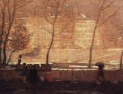 James Wilson Morrice Quai des Grands-Augustins oil on canvas