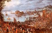 Jan Brueghel The Great Fish Market oil on canvas