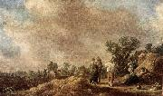 Jan van Goyen Haymaking painting