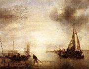Jan van de Capelle Calm oil on canvas