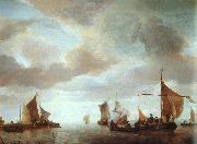 Jan van de Capelle Ships on a Calm oil on canvas