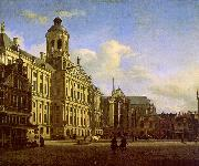 Jan van der Heyden The Dam with the New Town Hall oil painting reproduction