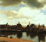 JanVermeer View of Delft oil painting reproduction