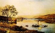 Jasper Cropsey Greenwood Lake oil on canvas