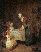 Jean Baptiste Simeon Chardin Grace before a Meal oil on canvas