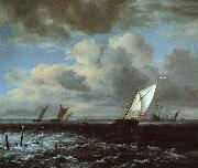 Jacob van Ruisdael Rough Sea oil