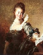 Jean Honore Fragonard Portrait of a Singer Holding a Sheet of Music oil painting