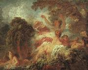 Jean-Honore Fragonard The Bathers oil on canvas