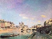 Johann Barthold Jongkind The Seine and Notre Dame in Paris oil on canvas