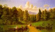 Johann M Culverhouse An Afternoon Outing oil on canvas