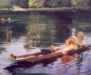 John Lavery The Thames at Maidenhead oil on canvas