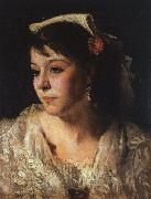 John Singer Sargent Head of an Italian Woman painting