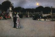 John Singer Sargent In the Luxembourg Gardens oil painting