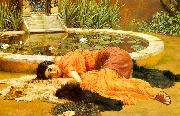 John William Godward Dolce Far Niente oil on canvas