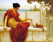 John William Godward The Tease oil on canvas